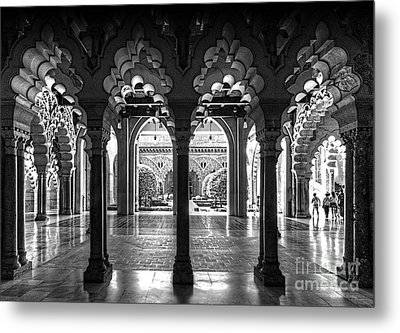 Aljaferia Palace I Bw Metal Print by Jack Torcello