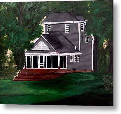 Metal Print featuring the painting All American by Ayasha Loya