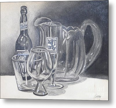 Metal Print featuring the drawing All Gone by Rod Ismay