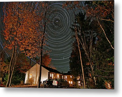 All Night Star Trails Metal Print by Larry Landolfi
