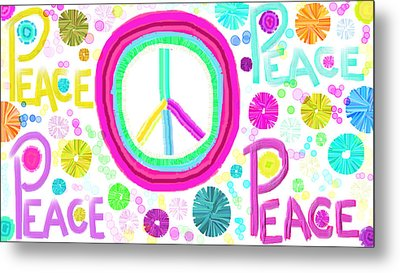 All The Peace Metal Print by Rosana Ortiz