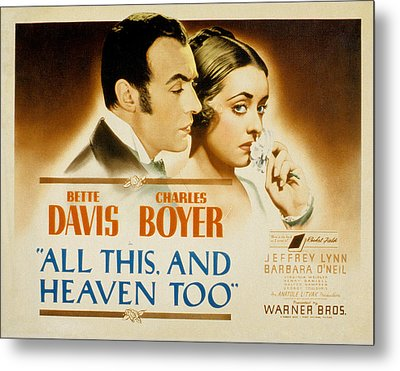 All This And Heaven Too, Charles Boyer Metal Print by Everett