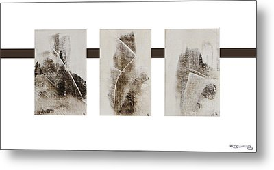All Winter Abstract Composition  Metal Print by Xoanxo Cespon