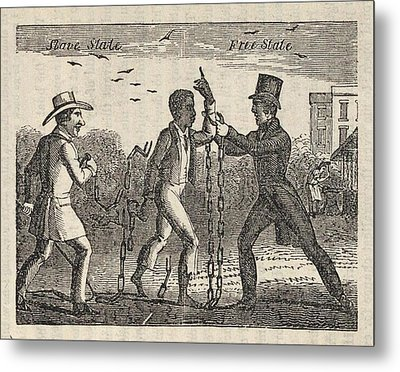 Allegorical Illustration Of A Slave�s Metal Print by Everett