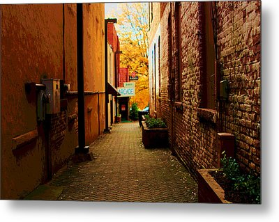 Metal Print featuring the photograph Alley Arcade  by Bob Whitt