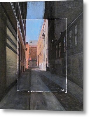 Alley Front Street Layered Metal Print by Anita Burgermeister