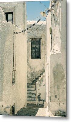 alley in Greece Metal Print by Joana Kruse