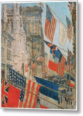 Allies Day Metal Print by Frederick Childe Hassam