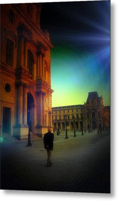 Alone In Paris Metal Print by Carrie OBrien Sibley