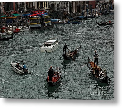 Along The Canal Metal Print by Vivian Christopher