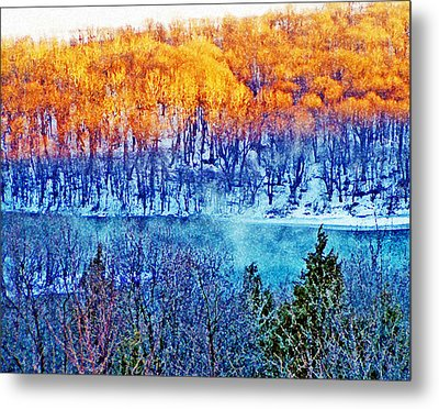Along The Susquehanna Metal Print by See Me Beautiful Photography