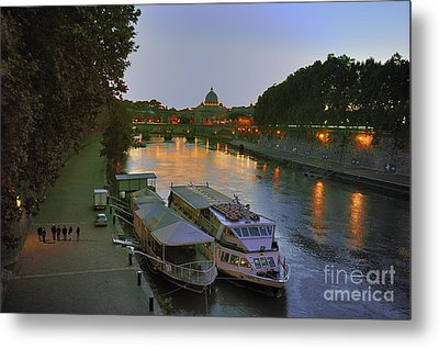 Along The Tiber Metal Print by Ed Rooney