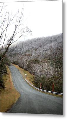 Alpine Way Road Near Thredbo Australia Metal Print