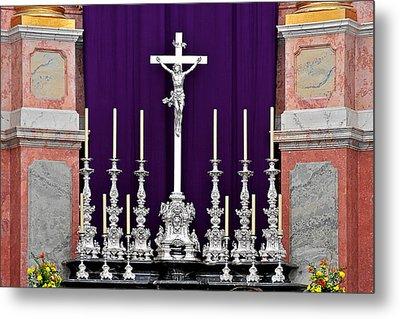 Altar Dresdener Hofkirche Metal Print by Christine Till