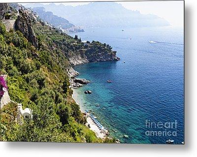 Amalfi Coast At Conca Dei Marini Metal Print by George Oze