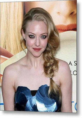 Amanda Seyfried  At Arrivals Metal Print by Everett