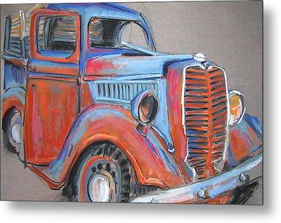 Amarillo Truck Metal Print by Barbara Richert