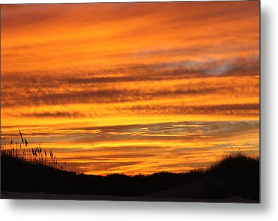 Amazing Sunset Over Obx Metal Print by Kim Galluzzo Wozniak