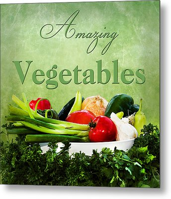 Amazing Vegetables Metal Print by Trudy Wilkerson