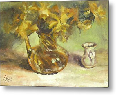 Amber Display Metal Print by Patricia Seitz