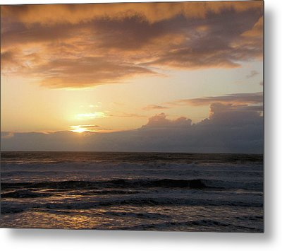 Amber Sunset Pacific II Metal Print