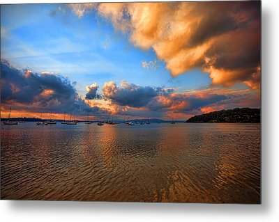 Ambers Sunset Metal Print