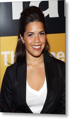 America Ferrera At A Public Appearance Metal Print by Everett