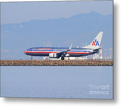 American Airlines Jet Airplane At San Francisco International Airport Sfo . 7d11837 Metal Print by Wingsdomain Art and Photography