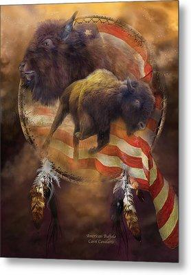 American Buffalo Metal Print by Carol Cavalaris