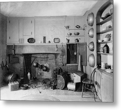 American Colonial Era Fireplace Metal Print by Everett