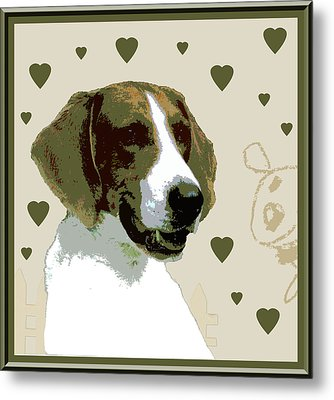 American Fox Hound Metal Print by One Rude Dawg Orcutt
