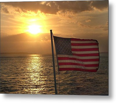 American Sunset Metal Print by Lillie Wilde
