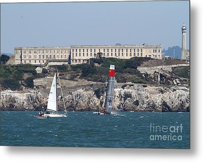 America's Cup In San Francisco - China Firefall - 7d18334 Metal Print by Wingsdomain Art and Photography