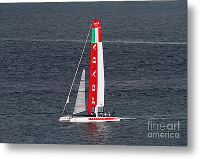 America's Cup In San Francisco - Italy Luna Rossa Paranha Sailboat - 7d19041 Metal Print by Wingsdomain Art and Photography