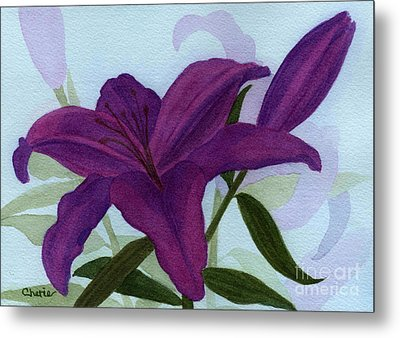 Amethyst Lily Metal Print by Vikki Wicks