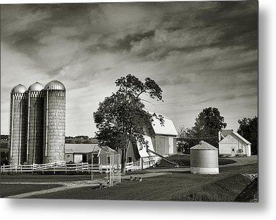 Amish Farmstead II Metal Print by Steven Ainsworth