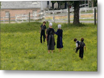Metal Print featuring the photograph Amish Life by Raymond Earley