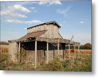 Amish Shed #3 Metal Print by Donna Bosela