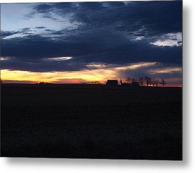 Amish Sunrise Metal Print by Joshua House