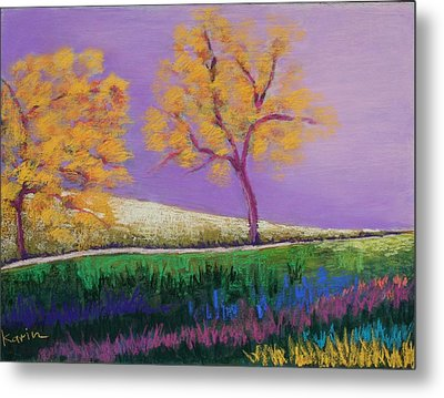 Amish Trees Metal Print by Karin Eisermann