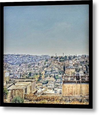Amman Down Town, #downtown #city Metal Print by Abdelrahman Alawwad