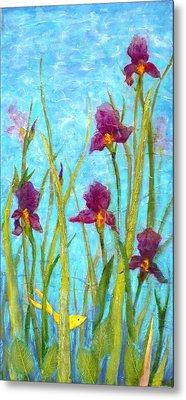 Among The Wild Irises Metal Print by Carla Parris