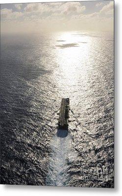 Amphibious Assault Ship Uss Boxer Metal Print by Stocktrek Images
