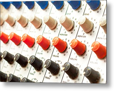 Amplifier Dials Metal Print by Tom Gowanlock