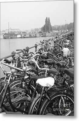 Amsterdam Bikes Metal Print by Erica Ross