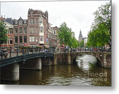 Amsterdam Bridge - 02 Metal Print by Gregory Dyer