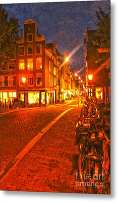 Amsterdam By Night - 02 Metal Print by Gregory Dyer