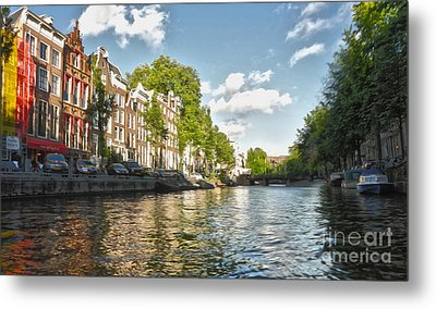Amsterdam Canal Metal Print by Gregory Dyer