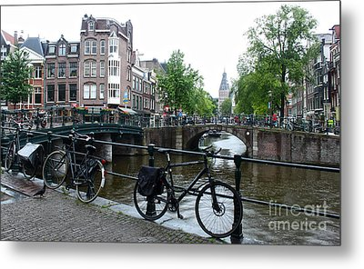 Amsterdam Canal View - 04 Metal Print by Gregory Dyer