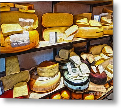 Amsterdam Cheese Shop Metal Print by Gregory Dyer